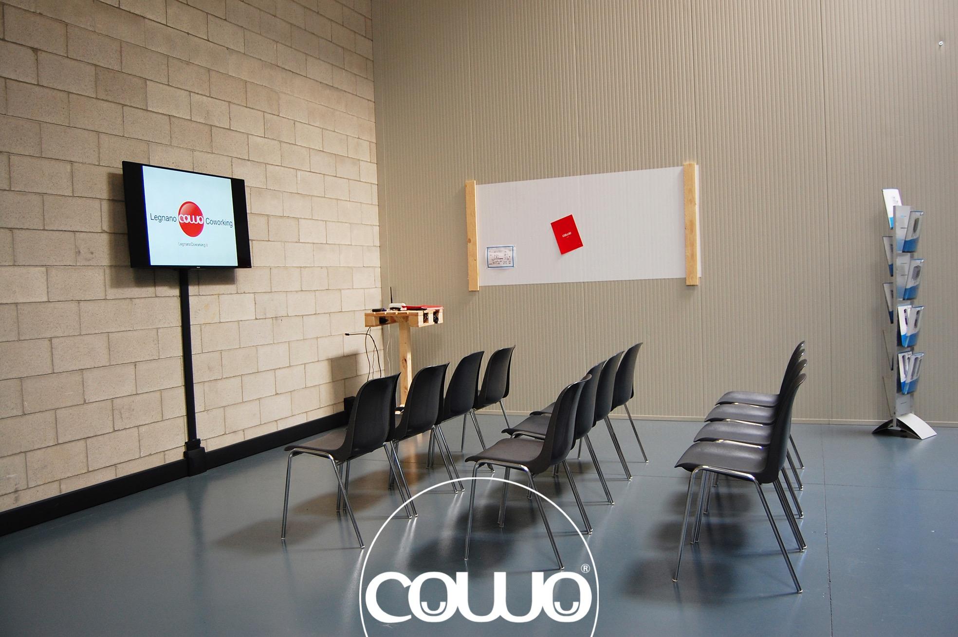 Aula formazione e convegni nello spazio Legnano Coworking