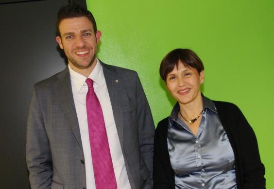 Lorena Prandi con Egidio Alagia