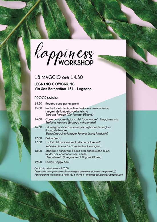Legnano Coworking Happiness Workshop
